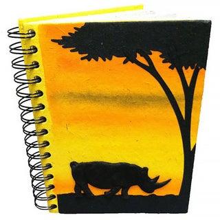 Handmade Elephant Dung Paper Rhino Journal (Sri Lanka)
