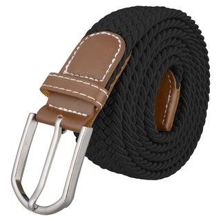 Zodaca Everlasting Wide Black Elastic Stretch Golf Belt