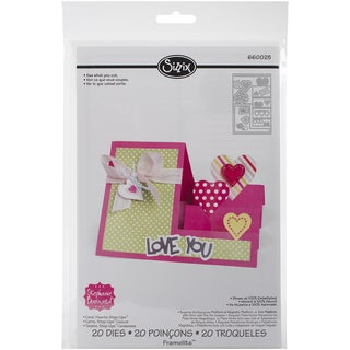 Sizzix Framelits Dies By Stephanie Barnard 20/Pkg-Hearts Step-Up Card