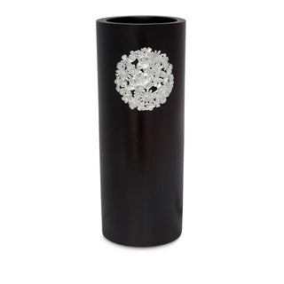 Handcrafted Mango Wood and Pewter Floral Bouquet Vase (Thailand)