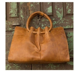 Handcrafted Leather 'Honey Hoops' Shoulder Bag (Mexico)
