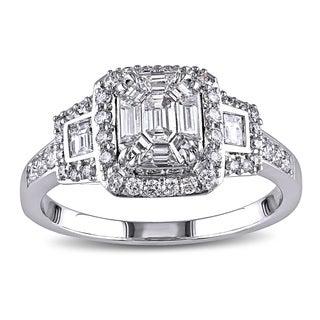 Miadora 18k White Gold 7/8ct TDW Diamond Ring (G-H, SI1-SI2)