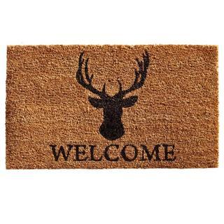 Deer Welcome Coir with Vinyl Backing Doormat (2' x 3')