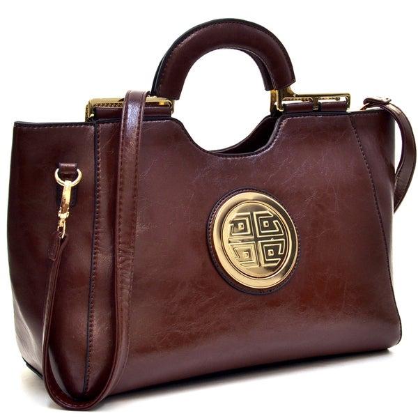 Dasein Loop Handle Leatherette Shoulder Bag