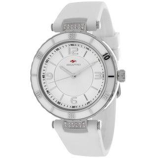 Seapro Women's SP6410 Seductive Round White Strap Watch