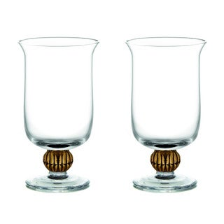 Fitz Floyd Gold Medley Hurricanes Candle Holders