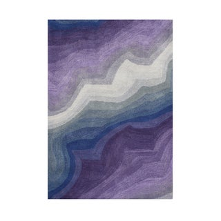 Alliyah Hand Made Smoke Grey New Zealand Blend Wool Area Rug (5 x 8)