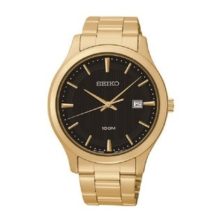 Seiko Men's SUR088 Stainless Steel Gold Tone Watch