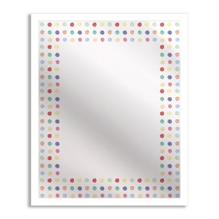 Watercolor Polka Dots Mirror Art