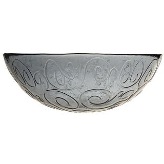 French Home 12-inch Oyster Grey Glass Serving Bowl
