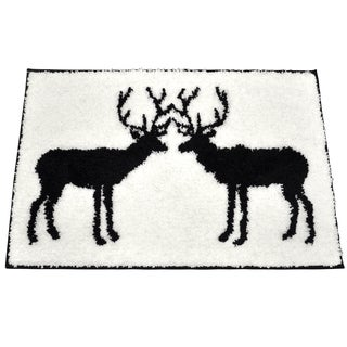 Stag Black/ White Bath Rug (20 x 30)