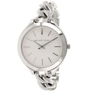 Michael Kors Women's MK3279 Slim Runway Stainless Steel Watch