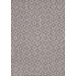 Loft Decor Squares Grey Rug (5'3 x 7'4)