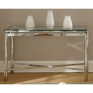 Natal Chrome and Glass Sofa Table
