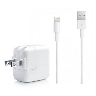 Apple OEM USB 3.5 FT Lightning Cable Power Cord + 12W Wall Charger for Apple iPad Air iPhone 5, 5C, 5S, 6, 6 Plus
