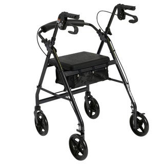 Drive Medical Aluminum Rollator with Removable Back Support