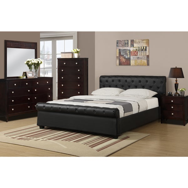 Galanta 4 piece bedroom set with matching nightstand for Matching bed and dresser