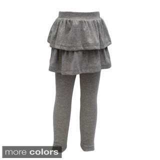 Girl's Leggings With Ruffle Skirt