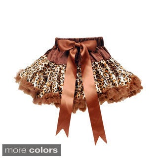 Girl's Animal Print Tutu and Ribbon