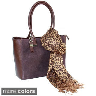 Buxton Keira Tote with Coordinating Scarf Set