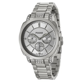 Pulsar Women's 'Night Out' Stainless Steel Crystal Quartz Watch