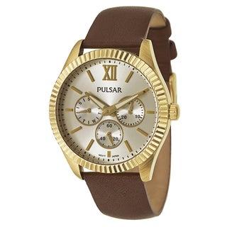 Pulsar Women's PP6144 'Business' Stainless Steel Yellow Goldtone Quartz Watch