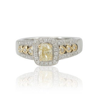Suzy Levian 18K Gold 1.286ct TDW Diamond Ring