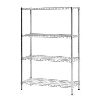 Excel Chrome (54 in. H x 36 in Wide x 14 in. D) Multi-Purpose 4-tier Wire Shelving