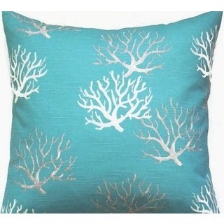 Taylor Marie Coastal Blue Coral Reef Pillow Cover