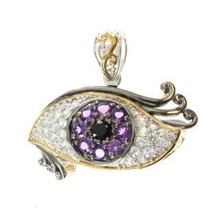 Michael Valitutti Men's Sterling Silver 'Eye' Necklace