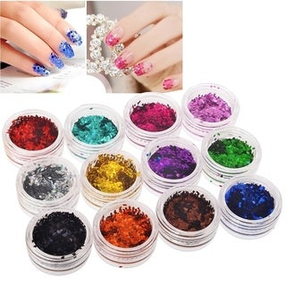 Zodaca 12-color Rhombus Classy Glitter Nail Art Set