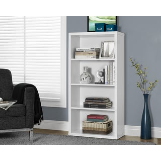 White Hollow-core 48-inch Adjustable Shelves Bookcase