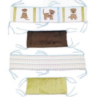 Puppy Pal Boy Crib Bumper-Rail Cover