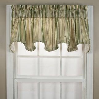 Kensington Green Stripe Window Valance