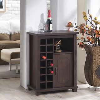 Furniture of America Eddard Vintage Walnut 14-bottle Wine Rack