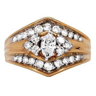 14k Yellow Gold 1ct TDW Marquise Diamond Engagement Ring (I-J, I1-I2)