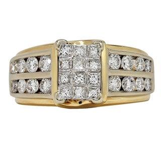 14k Yellow Gold 2ct TDW Diamond Ring (I-J, I1-I2)