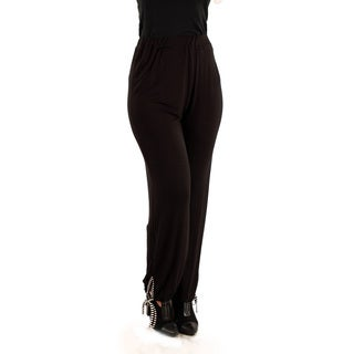 Firmiana Women's Black Relaxed-fit Dress Pants