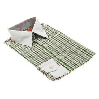 Elie Balleh Boys Slim Fit Colorful Gingham Button-down Shirt
