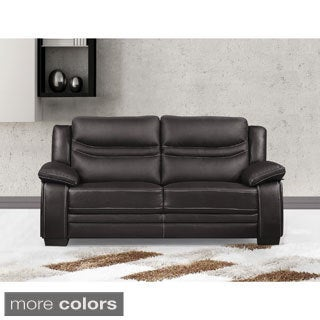 Winnie Bonded Leather Modern Loveseat