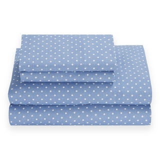 Tommy Hilfiger Chambray Dot Riviera Blue Sheet Set