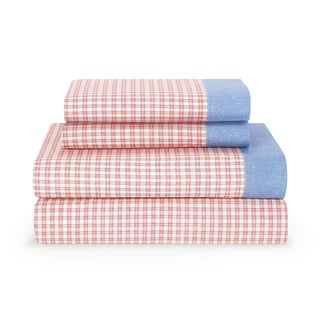 Tommy Hilfiger Ribbon Red Hampton Plaid Sheet Set