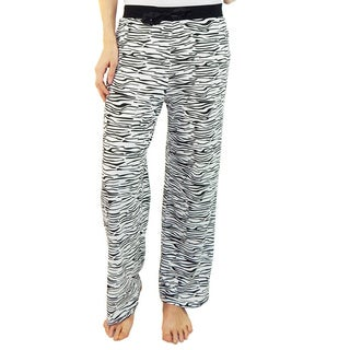 Vicceli Italy Women's Zebra Pattern Pajama Pants