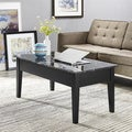 Black Faux Marble Lift Top Coffee Table