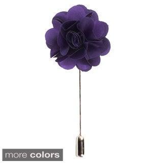 Men's Suit Handmade Solid Color Lapel Flower Pin