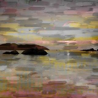 Parvez Taj 'Pastel Lake' Canvas Art