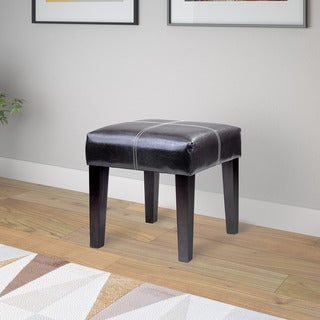 CorLiving Antonio 16-inch Bench in Dark Brown Bonded Leather
