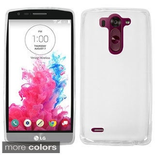 INSTEN Premium Plain Color TPU Rubber Candy Skin Phone Case Cover For LG G3 G/ Vigor