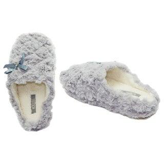Vecceli Women's Grey Cotton Casual Slippers