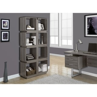 Dark Taupe Reclaimed-look 71-inch Bookcase